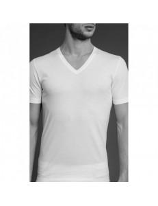 T-shirt uomo scollo a V puro cotone Boglietti