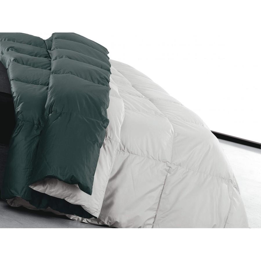 Trapunta invernale bicolore in piuma d'oca Duna variante notte d'argento letto singolo DaunenStep