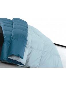 Trapunta invernale bicolore in piuma d'oca Duna variante orizzonte letto 1 piazza e ½ DaunenStep