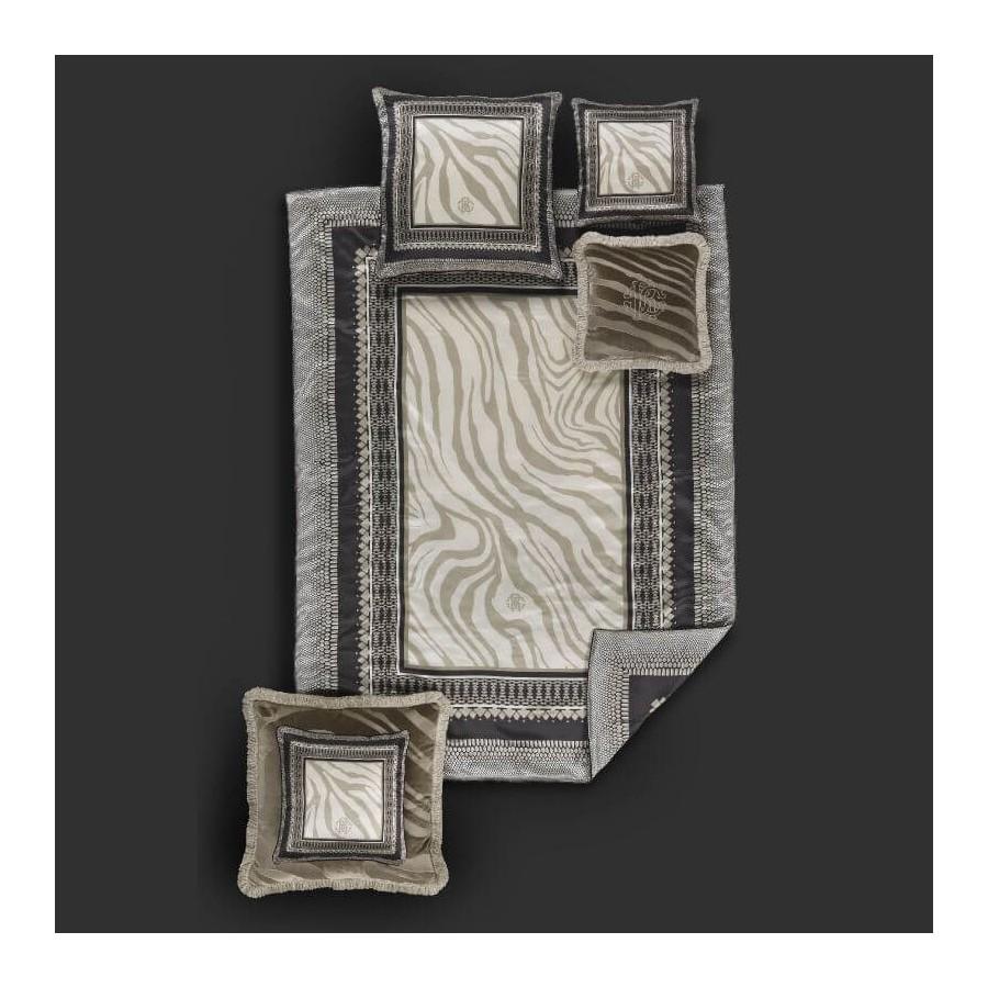Trapuntino/Quilt letto matrimoniale + cuscini coordinati Frame Zebrage Roberto Cavalli