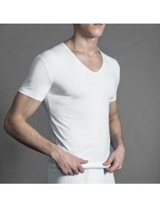 T-shirt scollo a V uomo Perofil