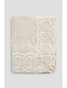Tovaglia in lino con pizzo Farnese Arte Pura