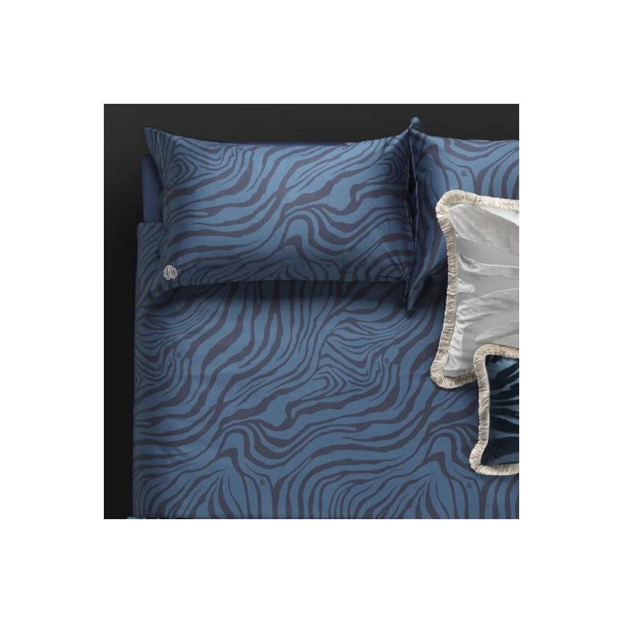 Completo lenzuola letto matrimoniale Macro Zebrage Roberto Cavalli